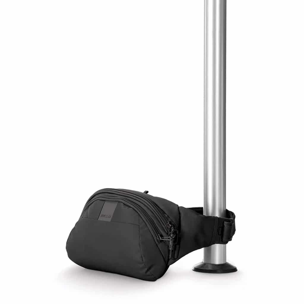 Metrosafe Hip Pack attached to pole