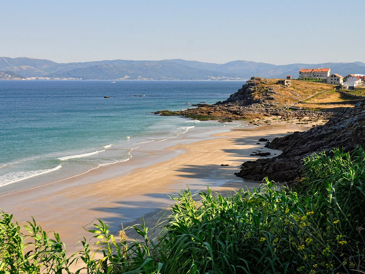 Beautiful coast on Camino Ingles (English Way), in Northern Spain