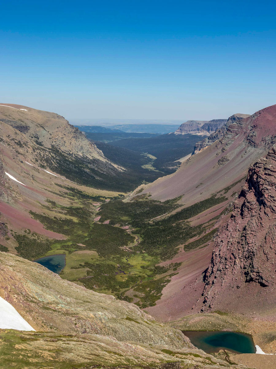 Glacial land formations in Glacier National Park