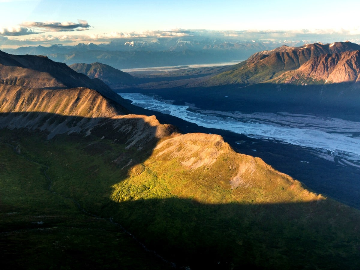 Panoramic views from above Chugach State Park