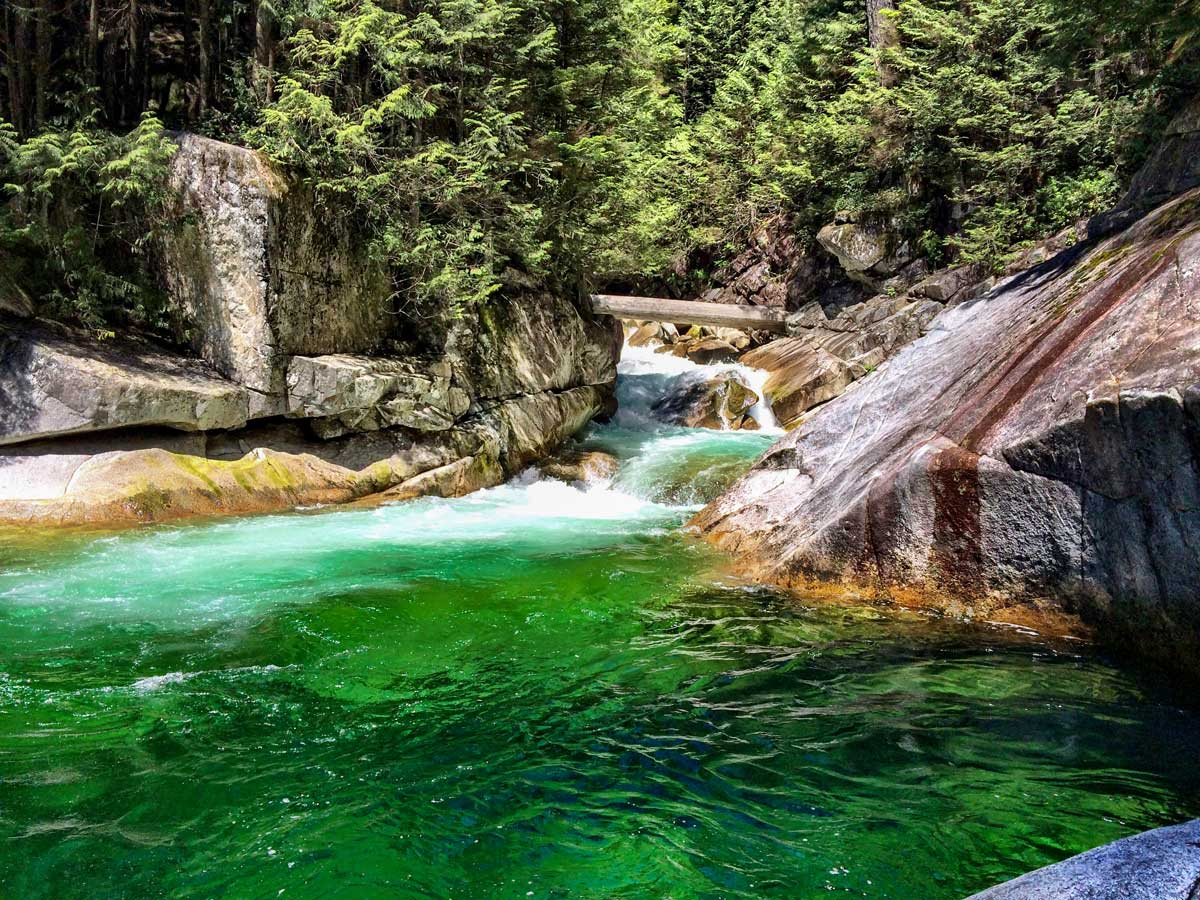 Pool above Gold Creek Falls near Vancouver BC