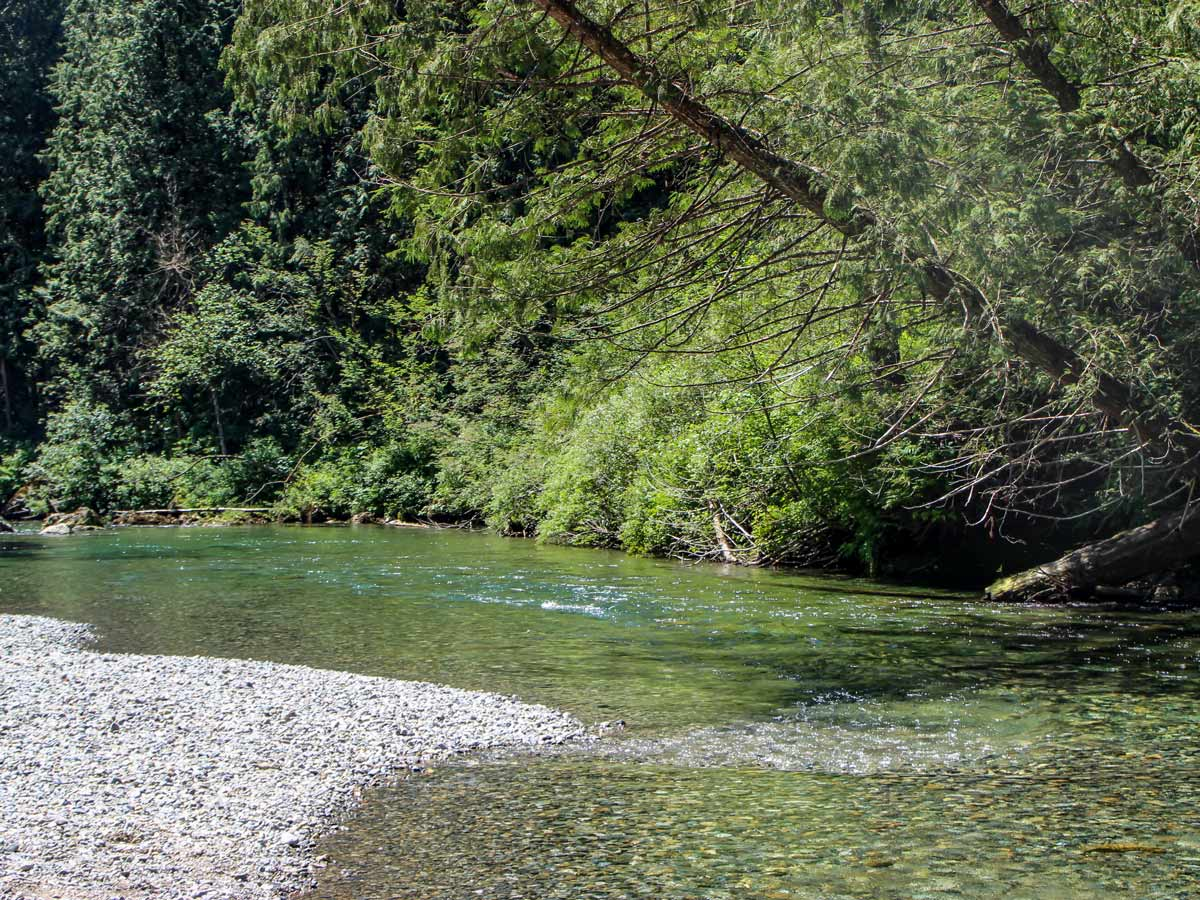 Gold Creek near natural waterfalls east of Vancouver