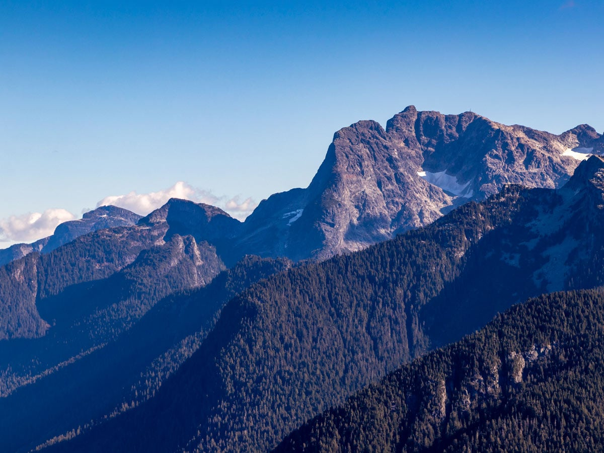 Hiking high in the mountians of Golden Ears near Vancouver