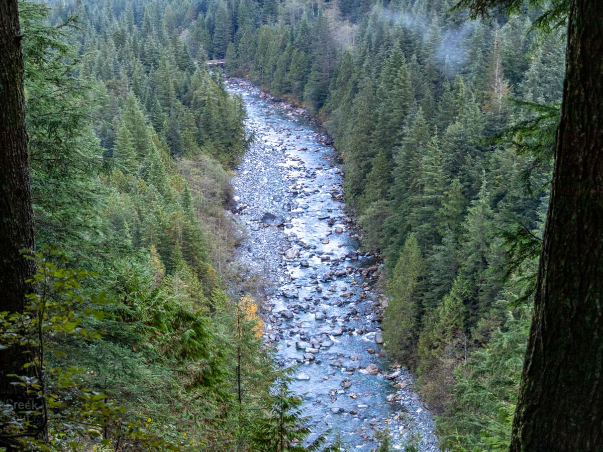 Gold Creek viewed form Golden Ears hike near Vancouver
