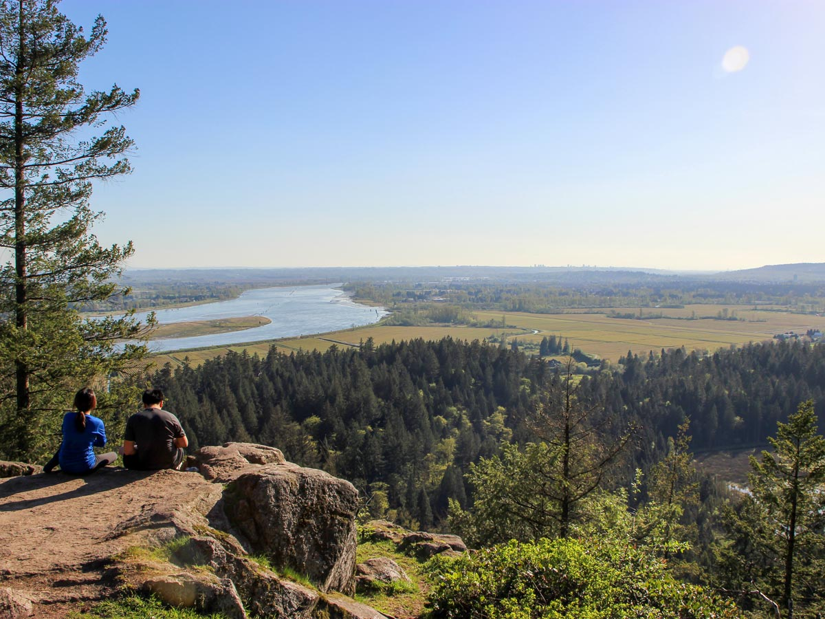The High Knoll Lookout in mountains near Vancouver