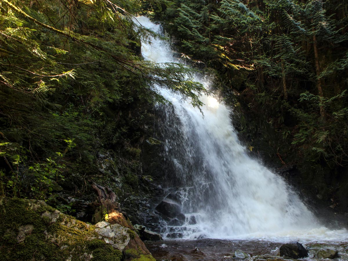 Magnificent Sawblade falls waterfalls east of Vancouver British Columbia