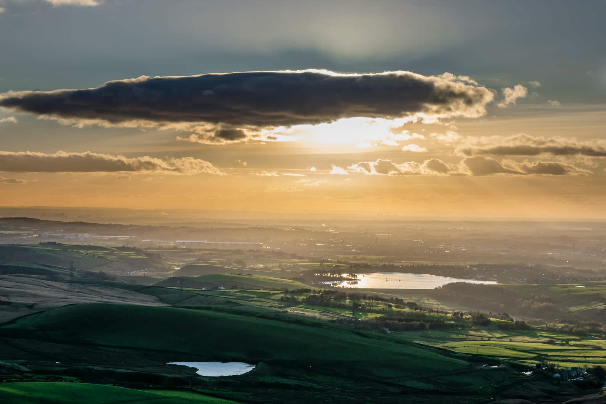 View over Hollingworth Lake