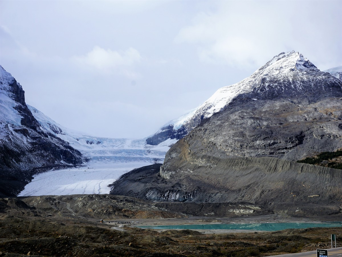 Views of Athabasca Glacier from Wilcox Pass hike