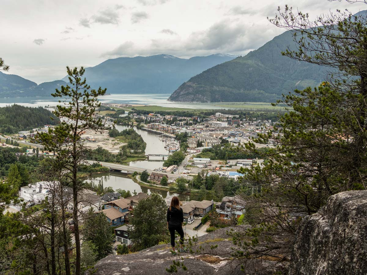 The view of Squamish from the above