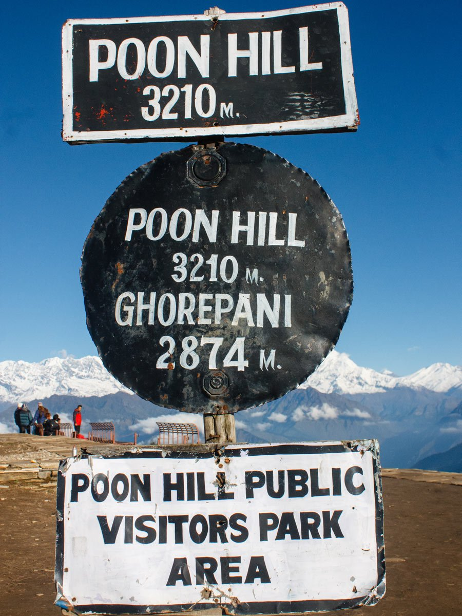 Signposts on Poon Hill