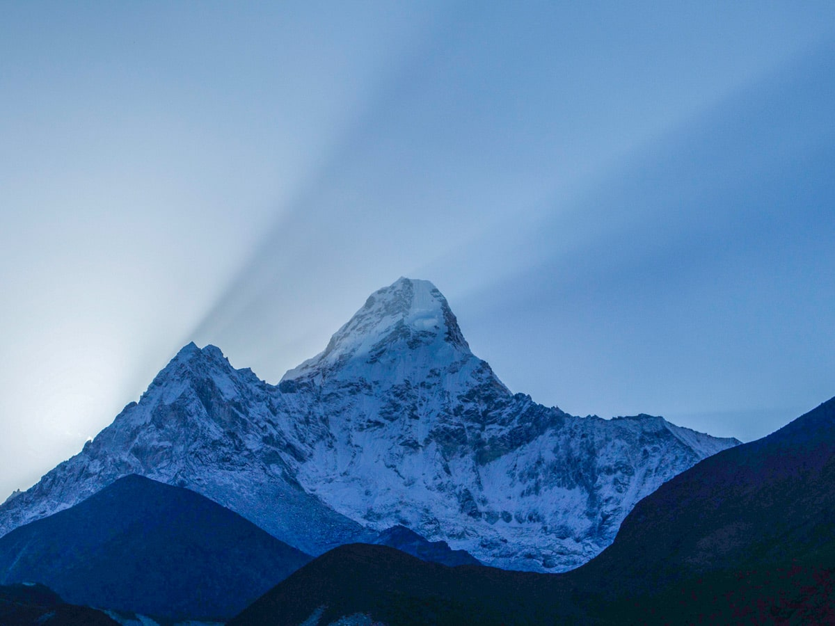 Amazing Himalayan mountains in Nepal