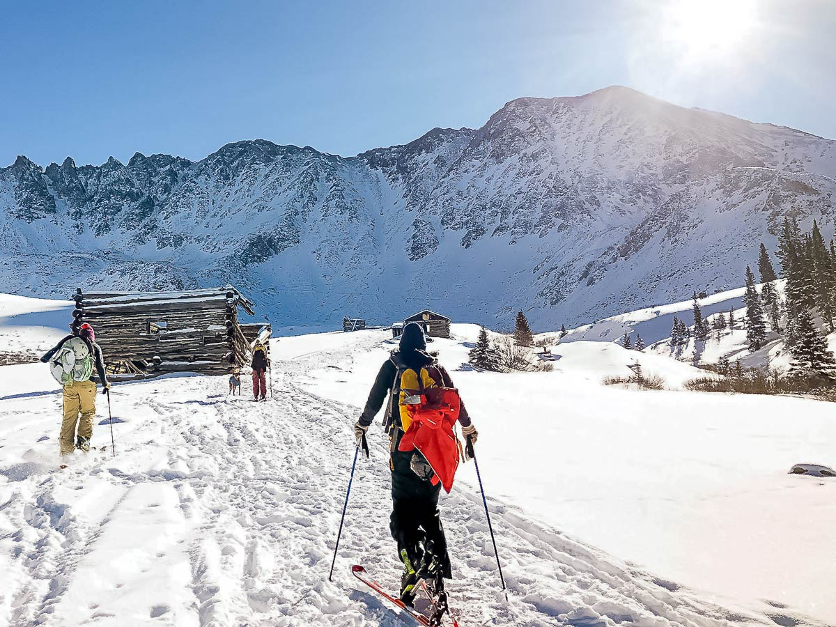 Backcountry activities during the winter