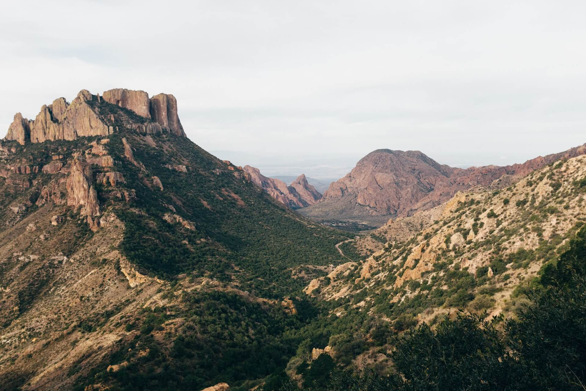 Scenic rugged mountains in the Big Bend