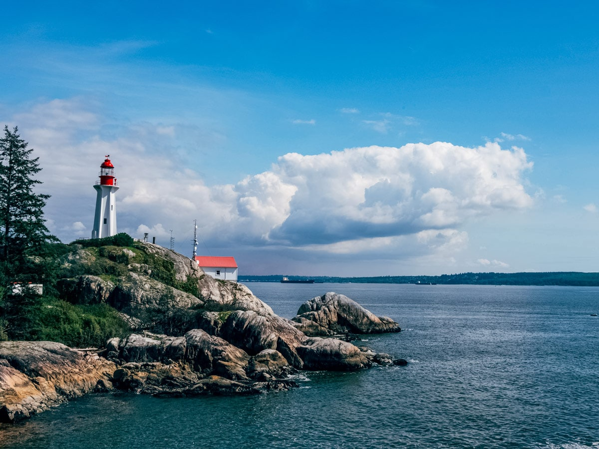 Lighthouse Park on the Pacific coast Vancouver