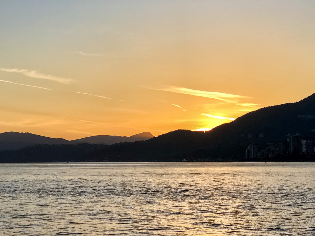 Vancouvers North Shore sunset