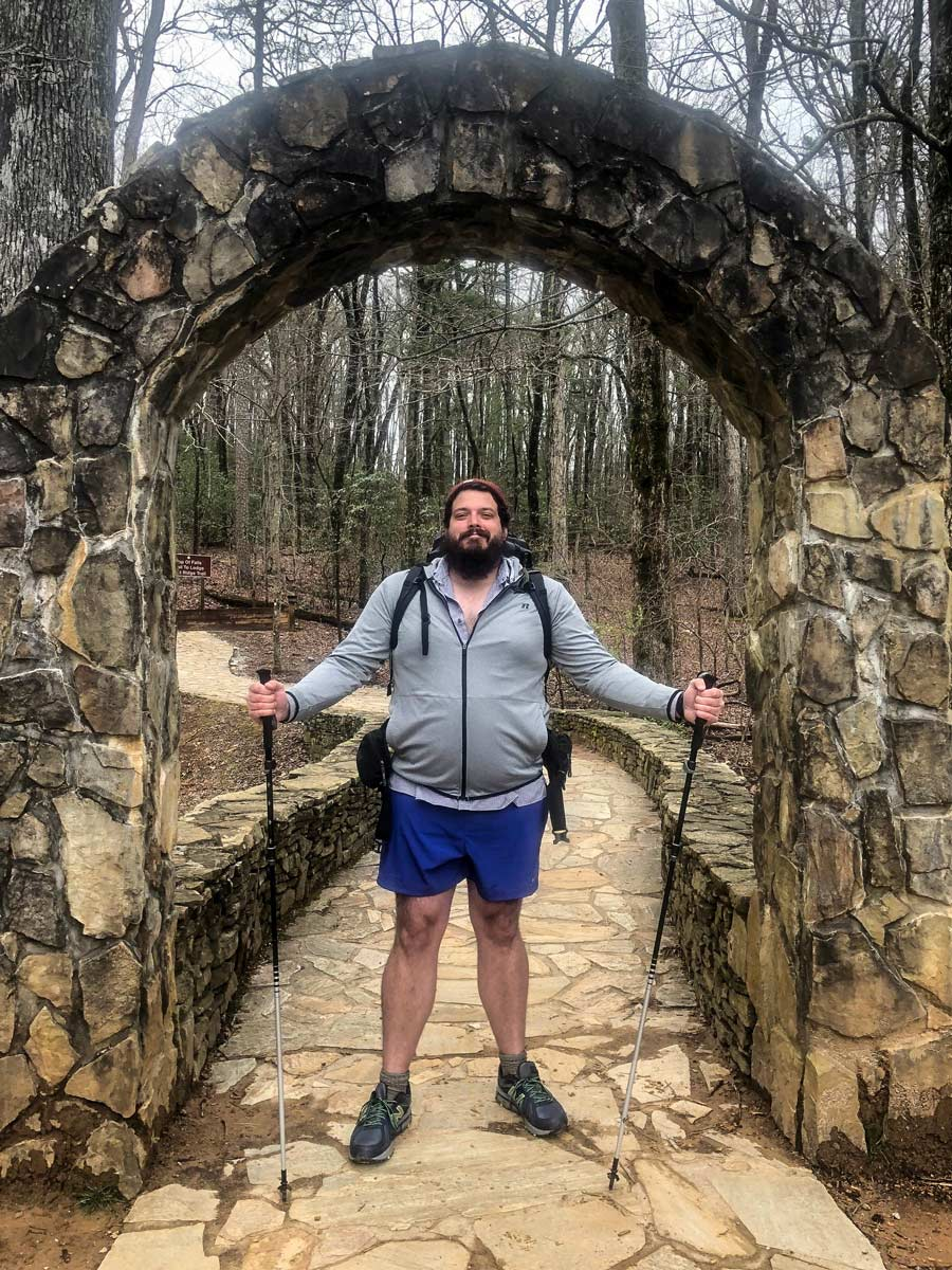 The start of my thru-hike, all 352 pounds of me.