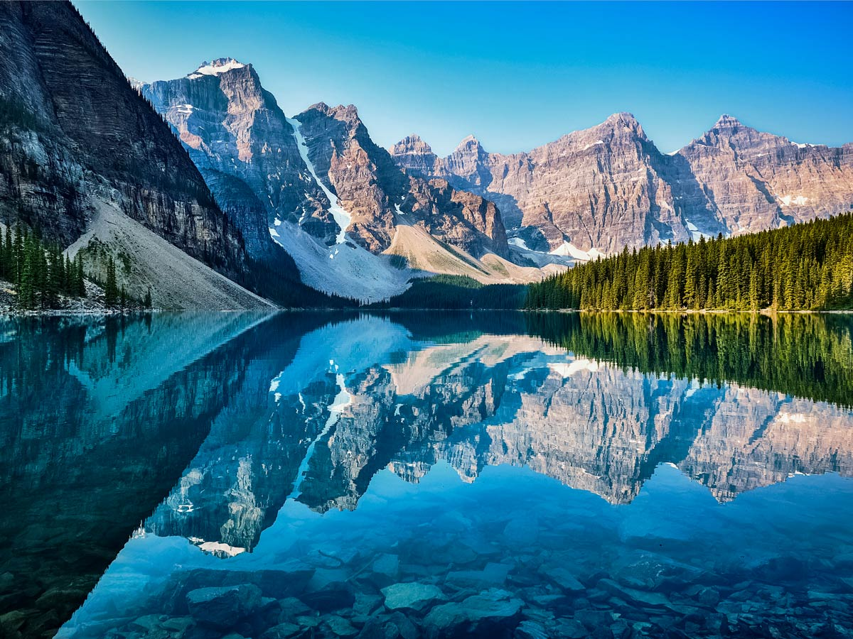 Beautiful Moraine Lake near Banff Canada