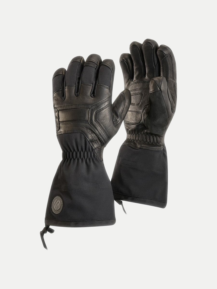 Double black leather BlackDiamond brand Guide Gloves