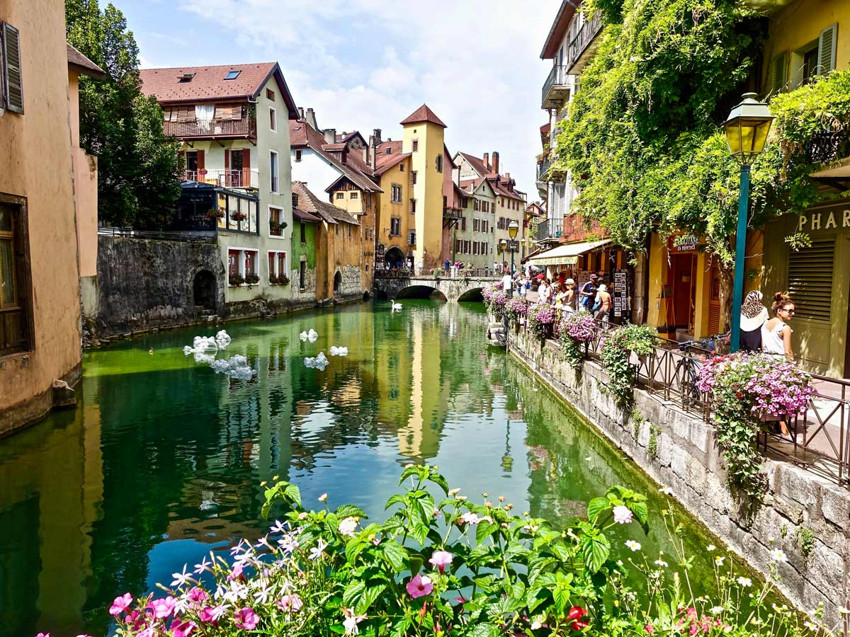 Annecy historic town canal