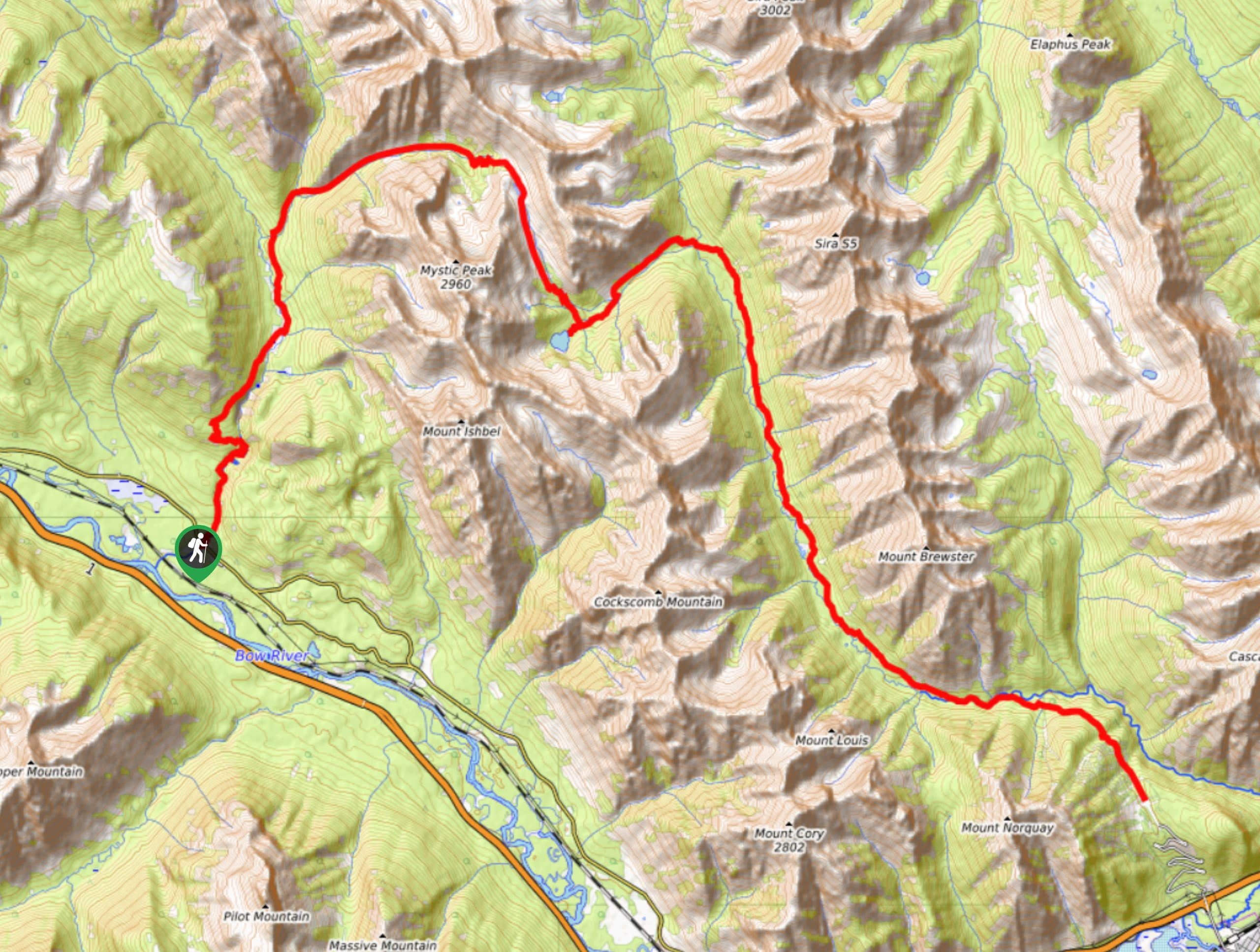 Mystic Pass Backpacking Trail Map