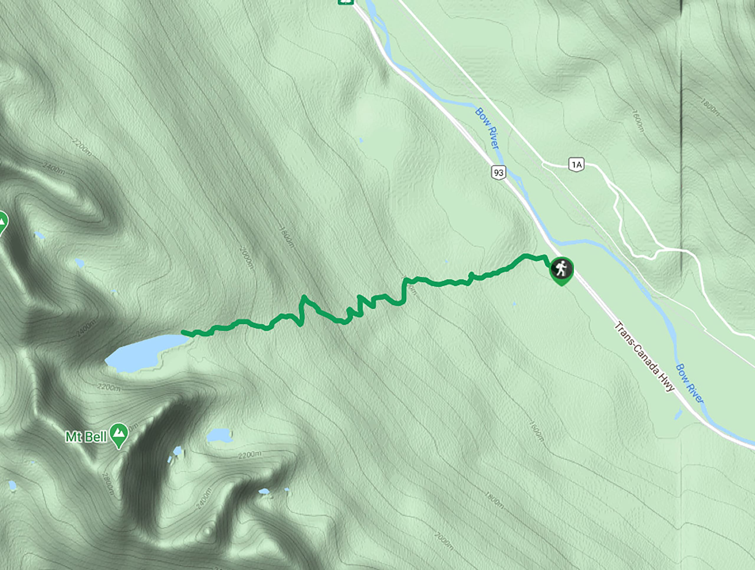Taylor Lake Hike Map