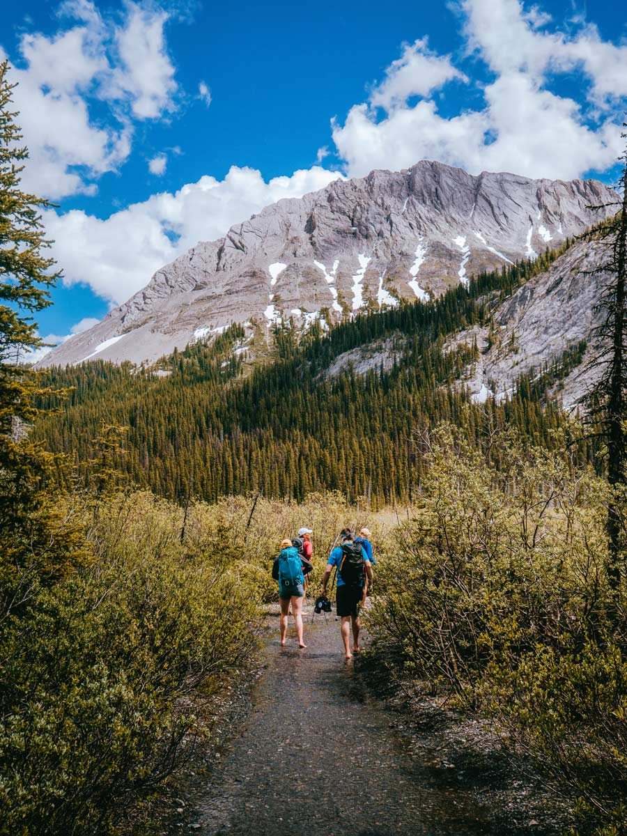 Kananaskis backpacking trek hikers