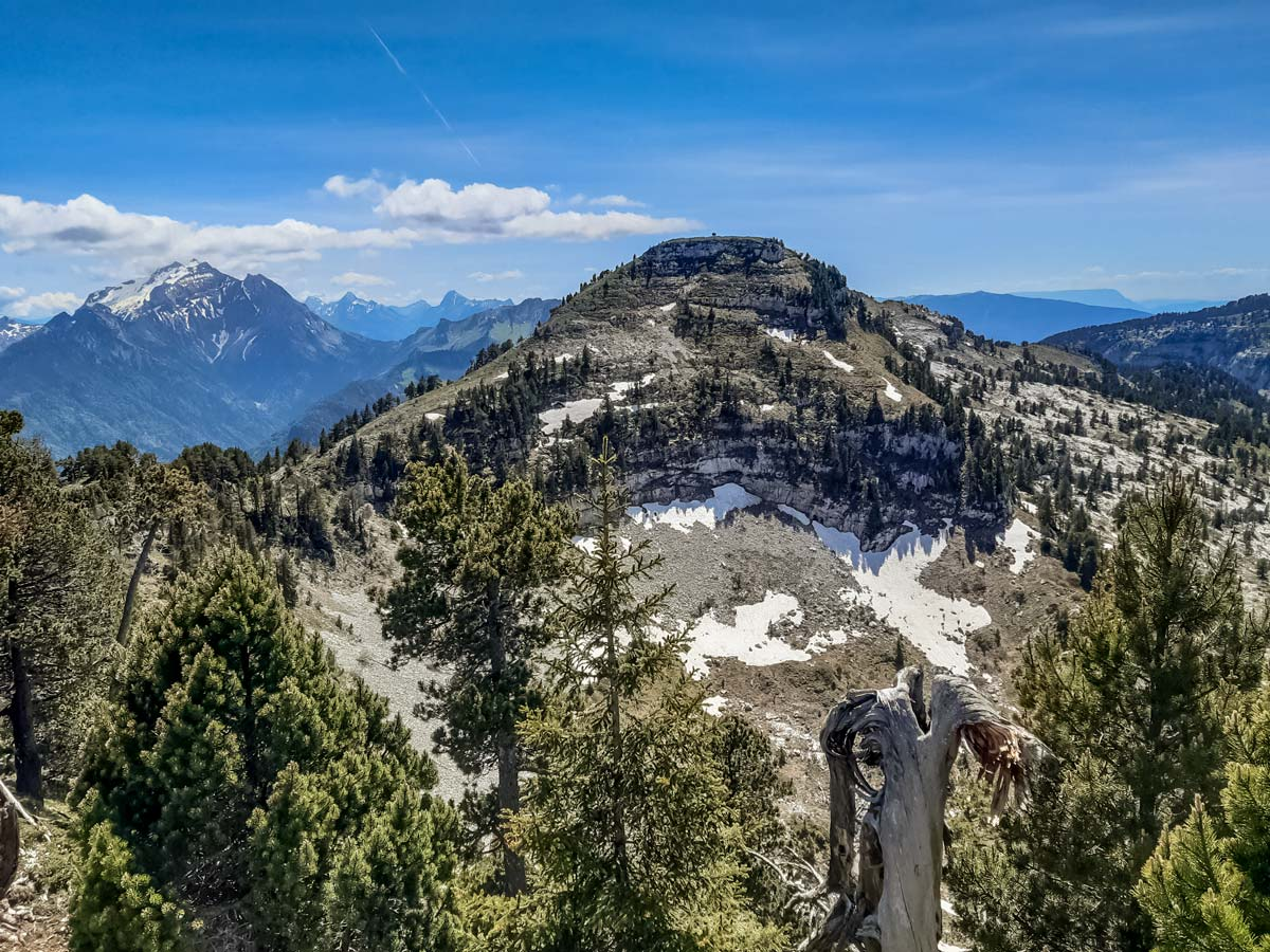 7 Tete rond from tete noire 3 tetes Plateau des Gileres hiking France