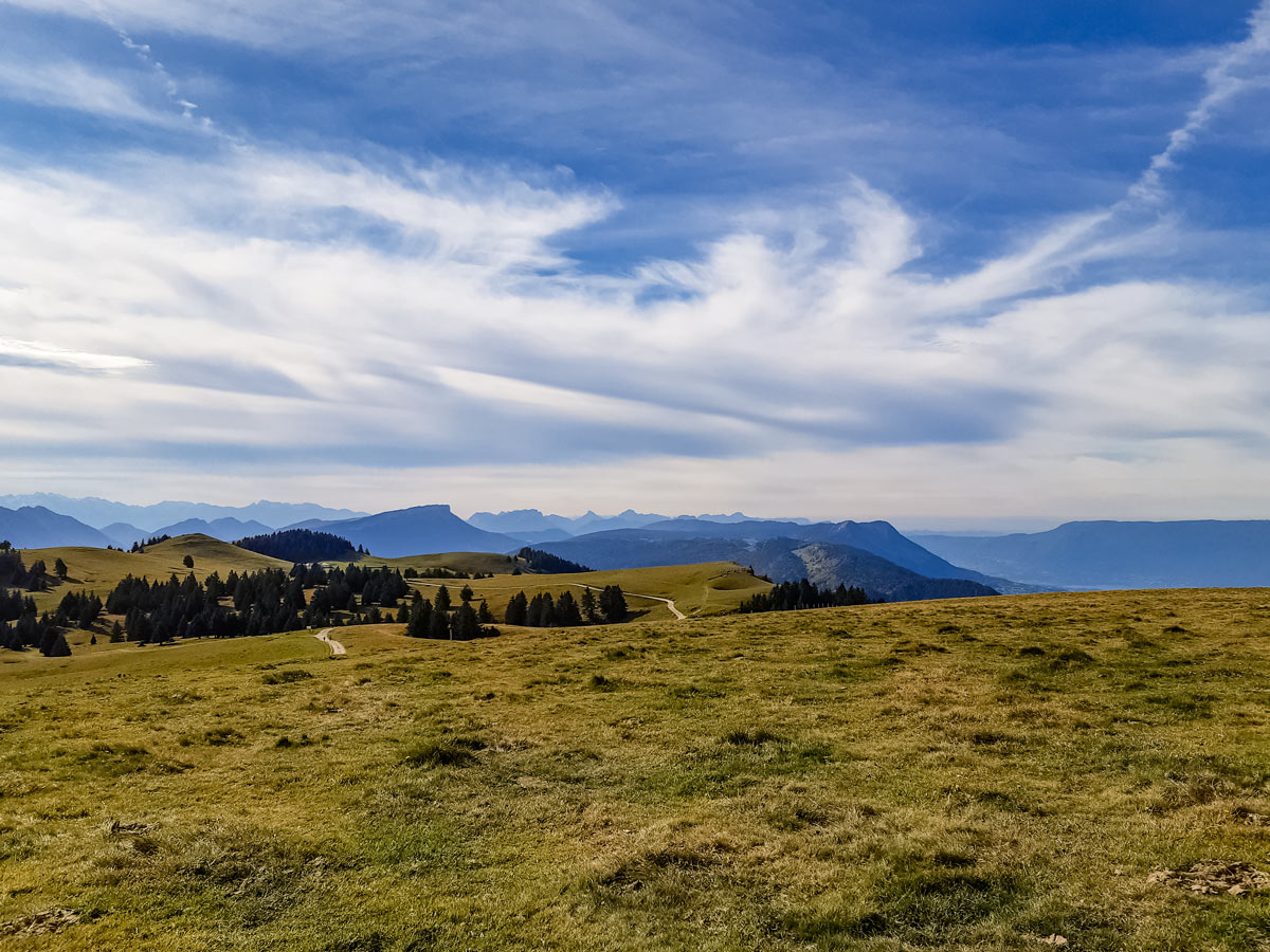 View from first hill along Semnoz hike in France