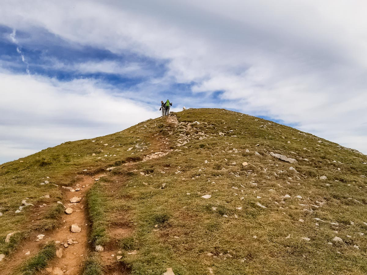 Hill climb to lookout point along Semnoz hike in France