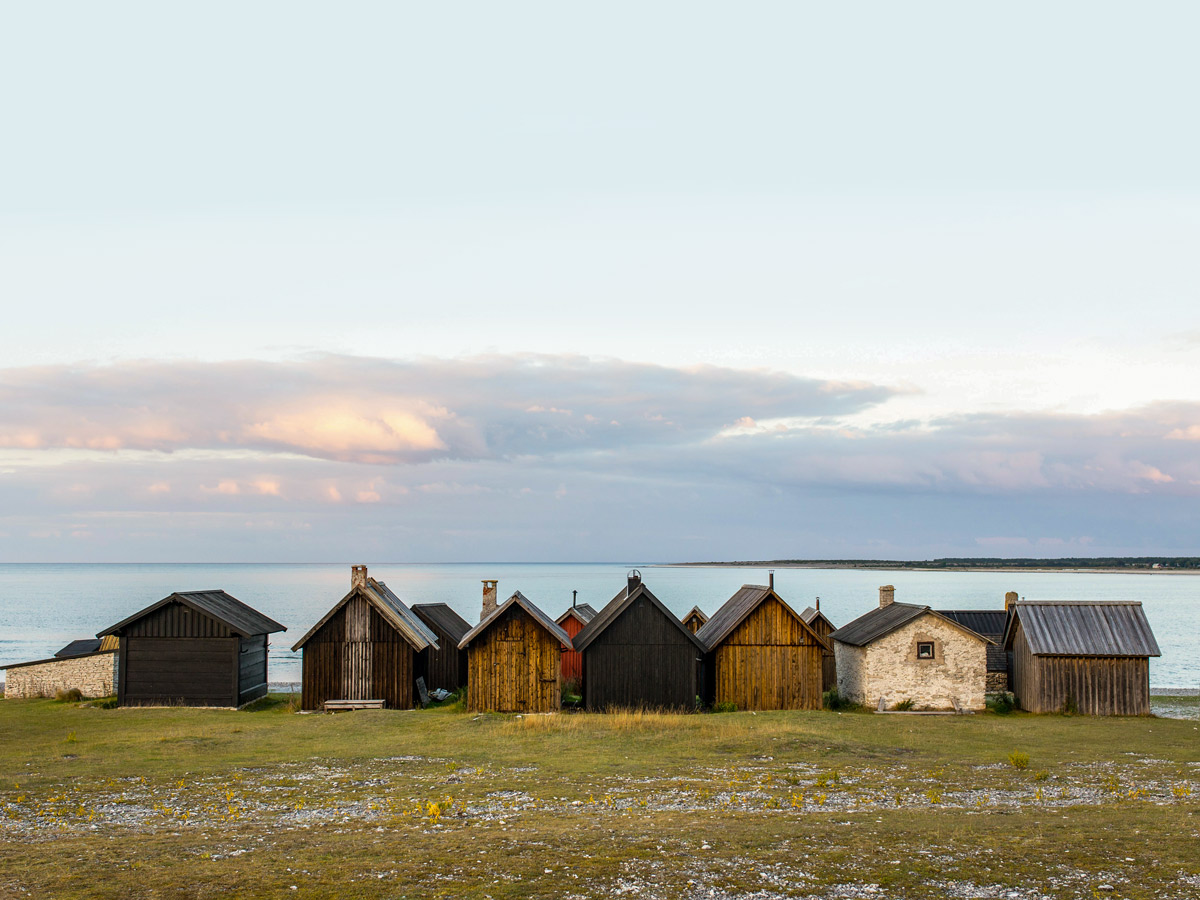 Hut Houses by the sea in Faro Sweden