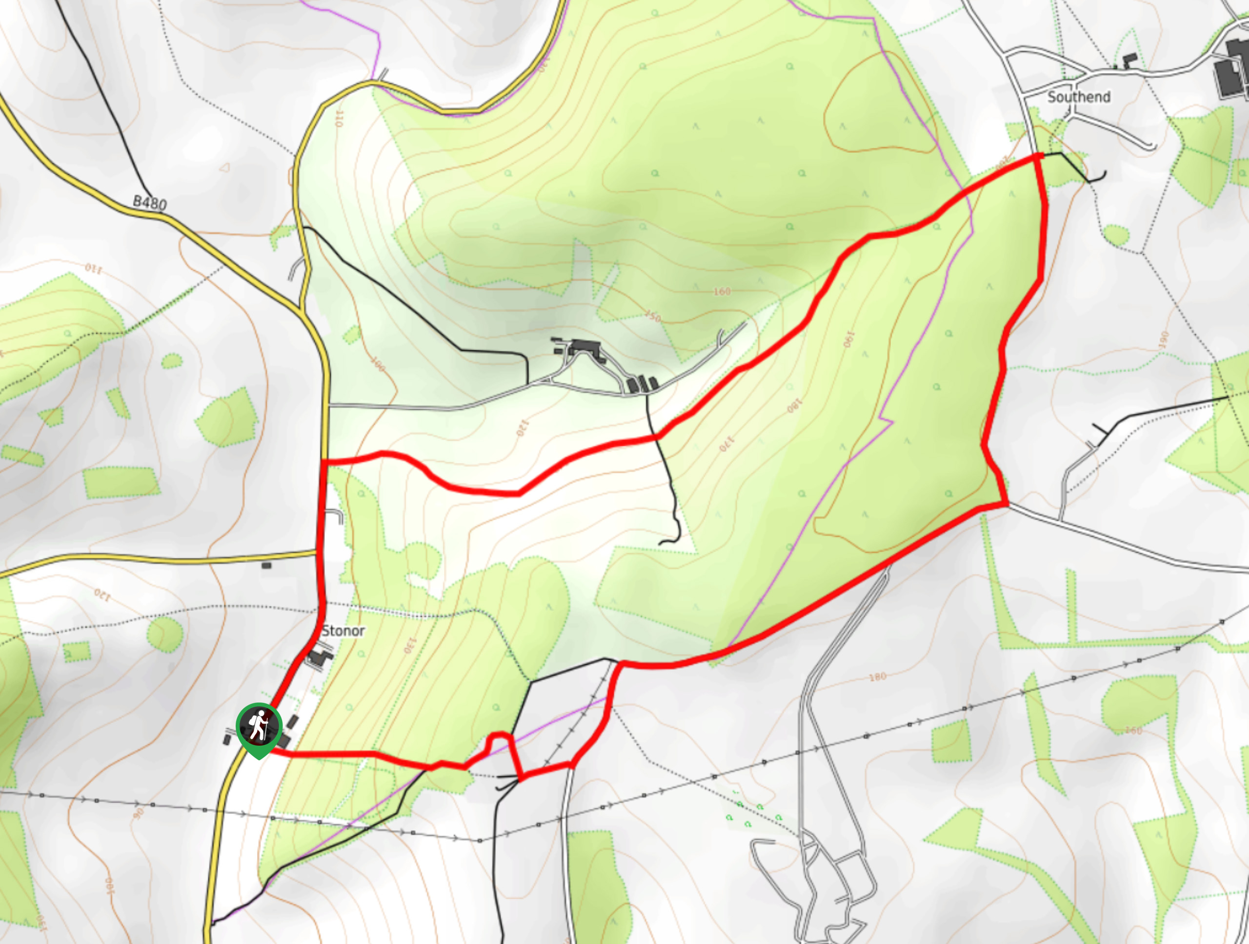 Almshill Wood and Stonor Park Walk Map