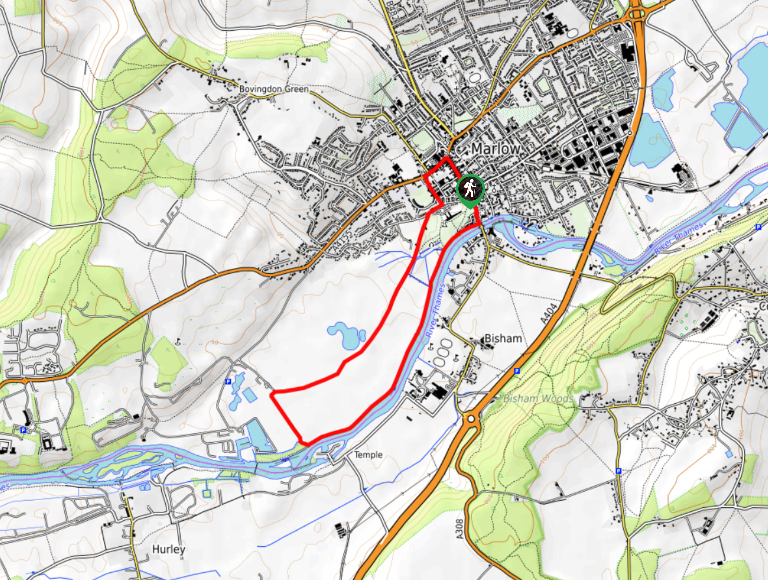 Marlow-on-Thames Walk Map