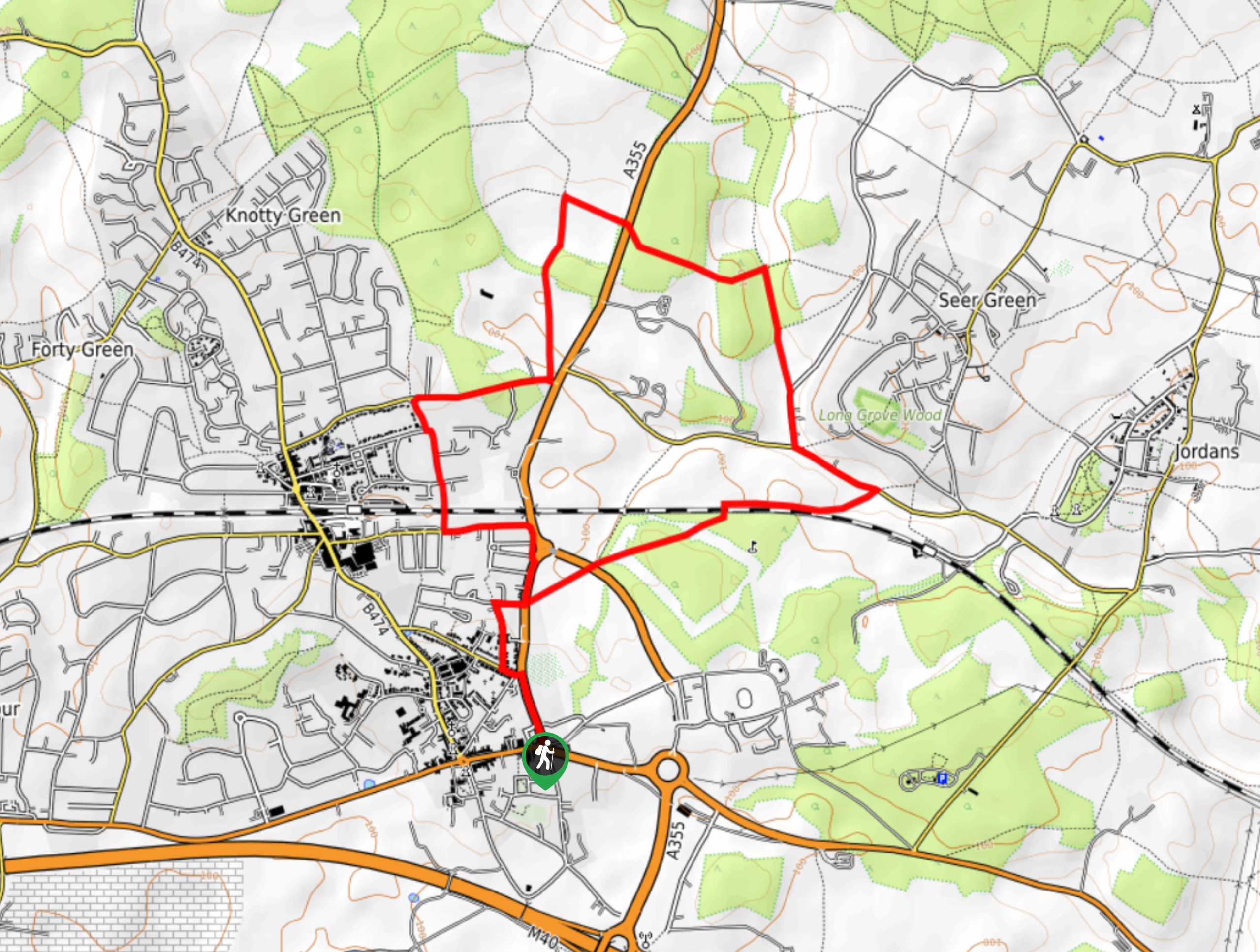 White Horse Beaconsfield Country Walk Map