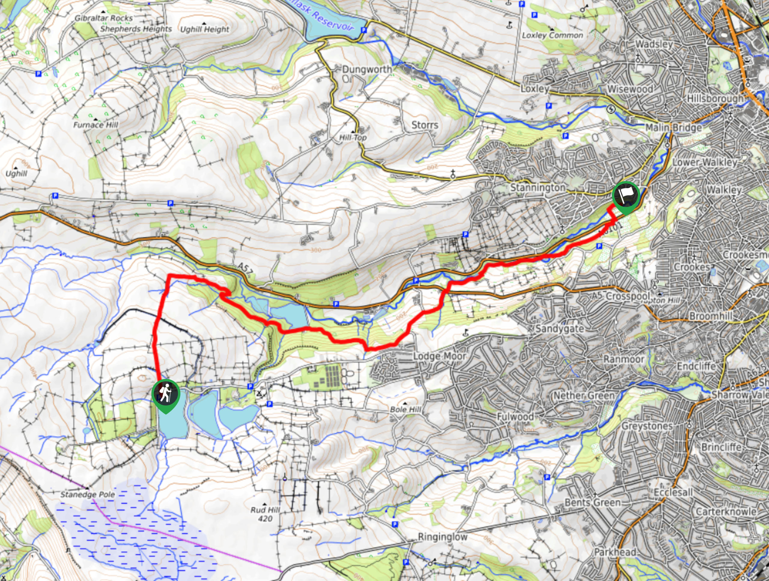 Rivelin Valley Nature Trail Map