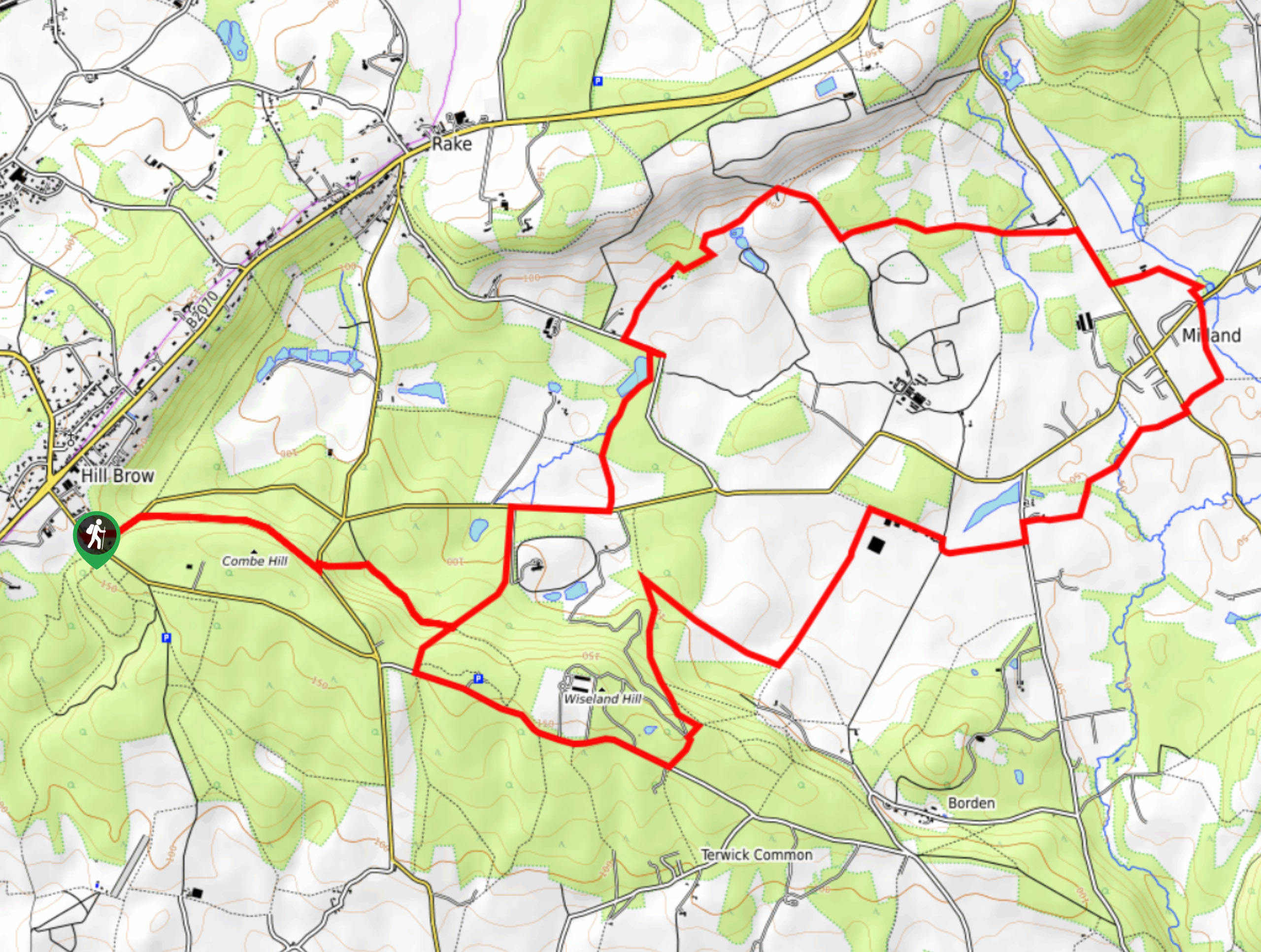 Liss and Milland Walk Map
