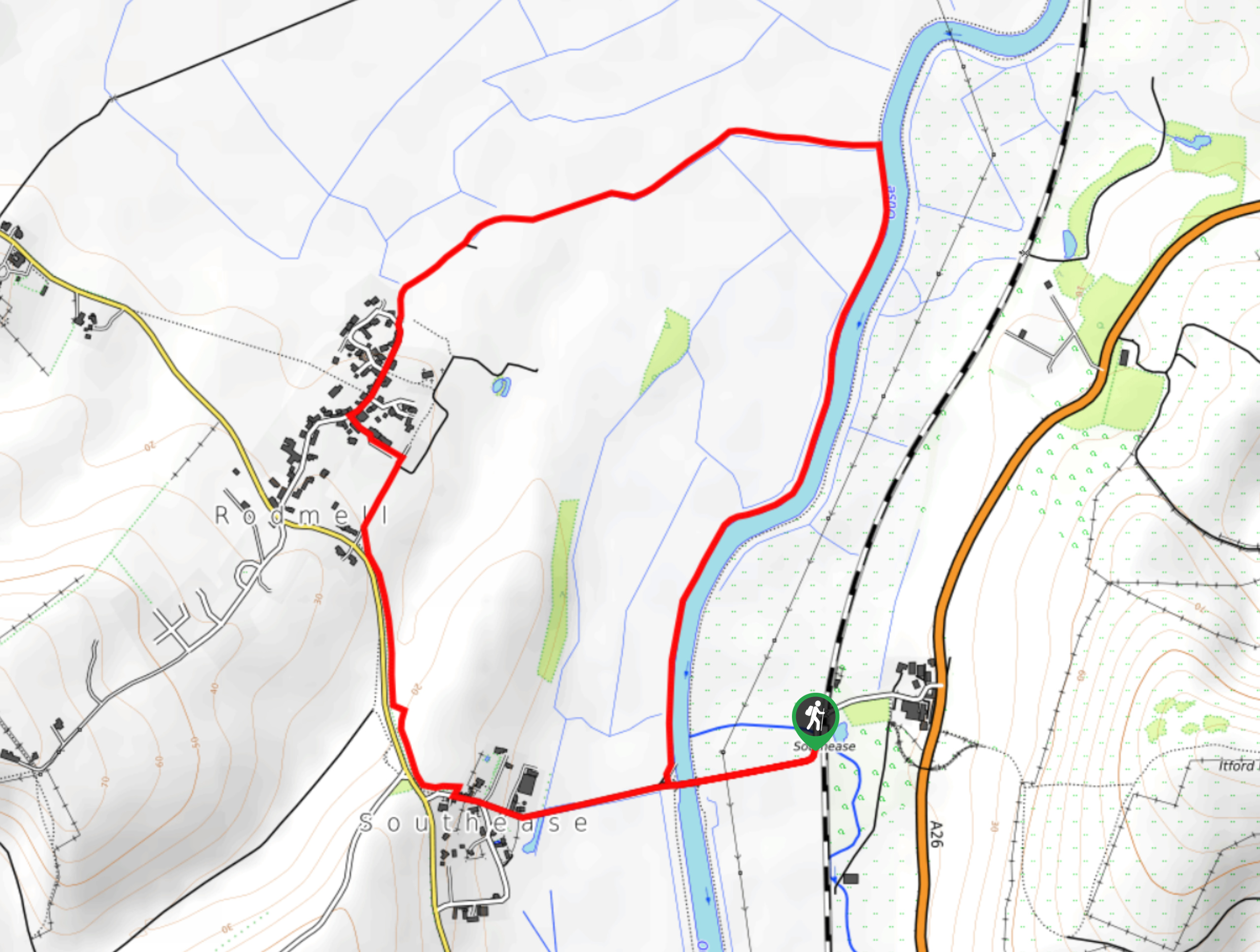 Ouse Valley Walk Map