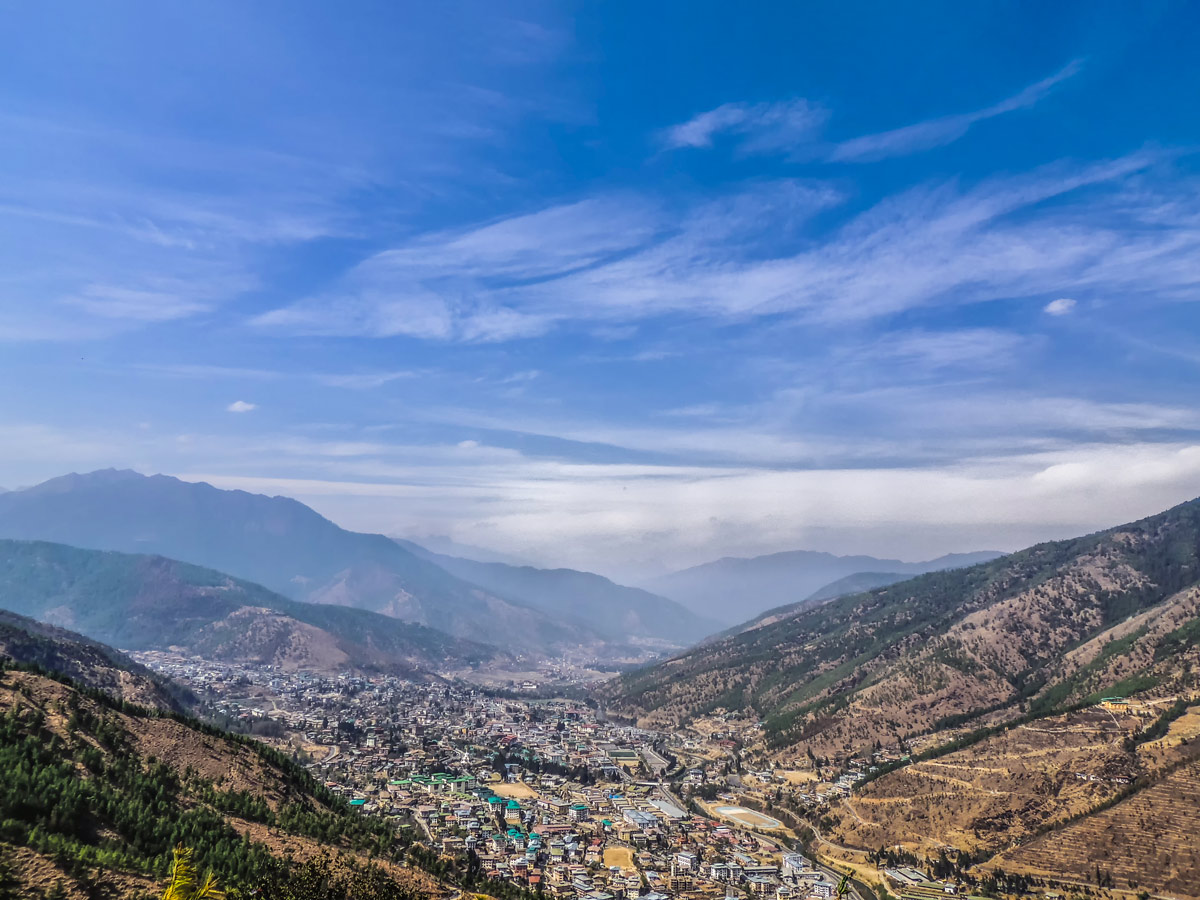 City in the valley Thimphu