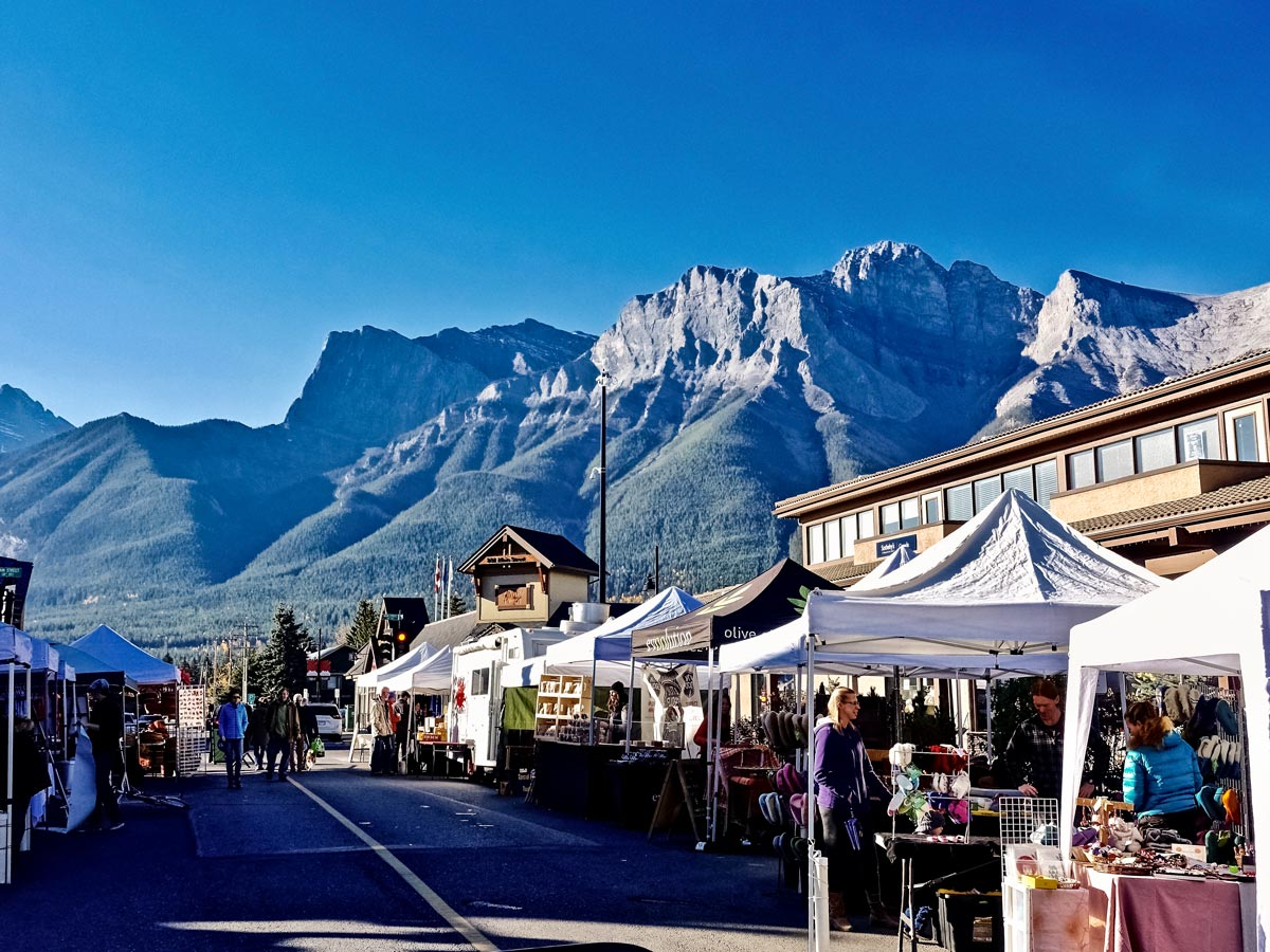 Canmore street market