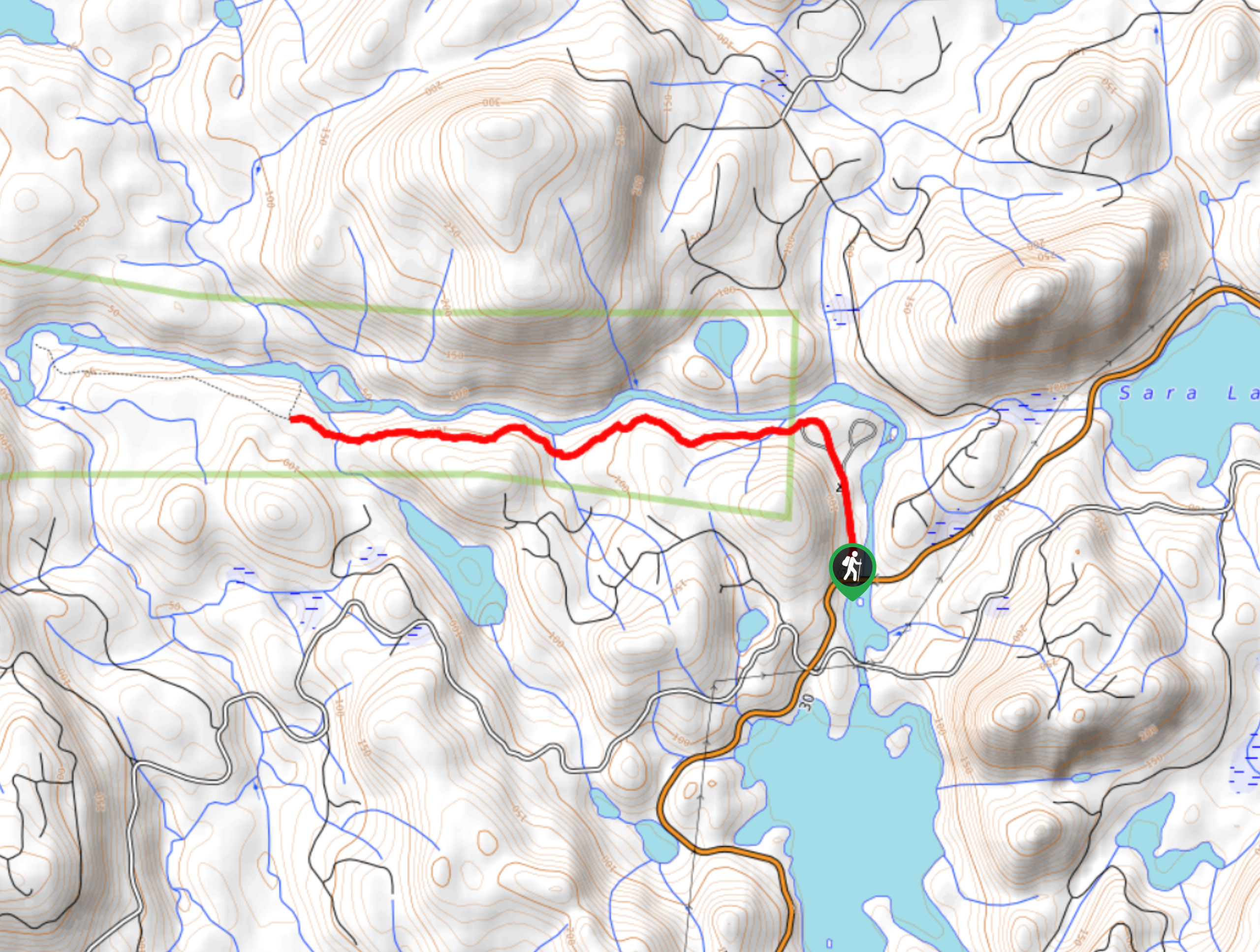 Marble River Trail Map