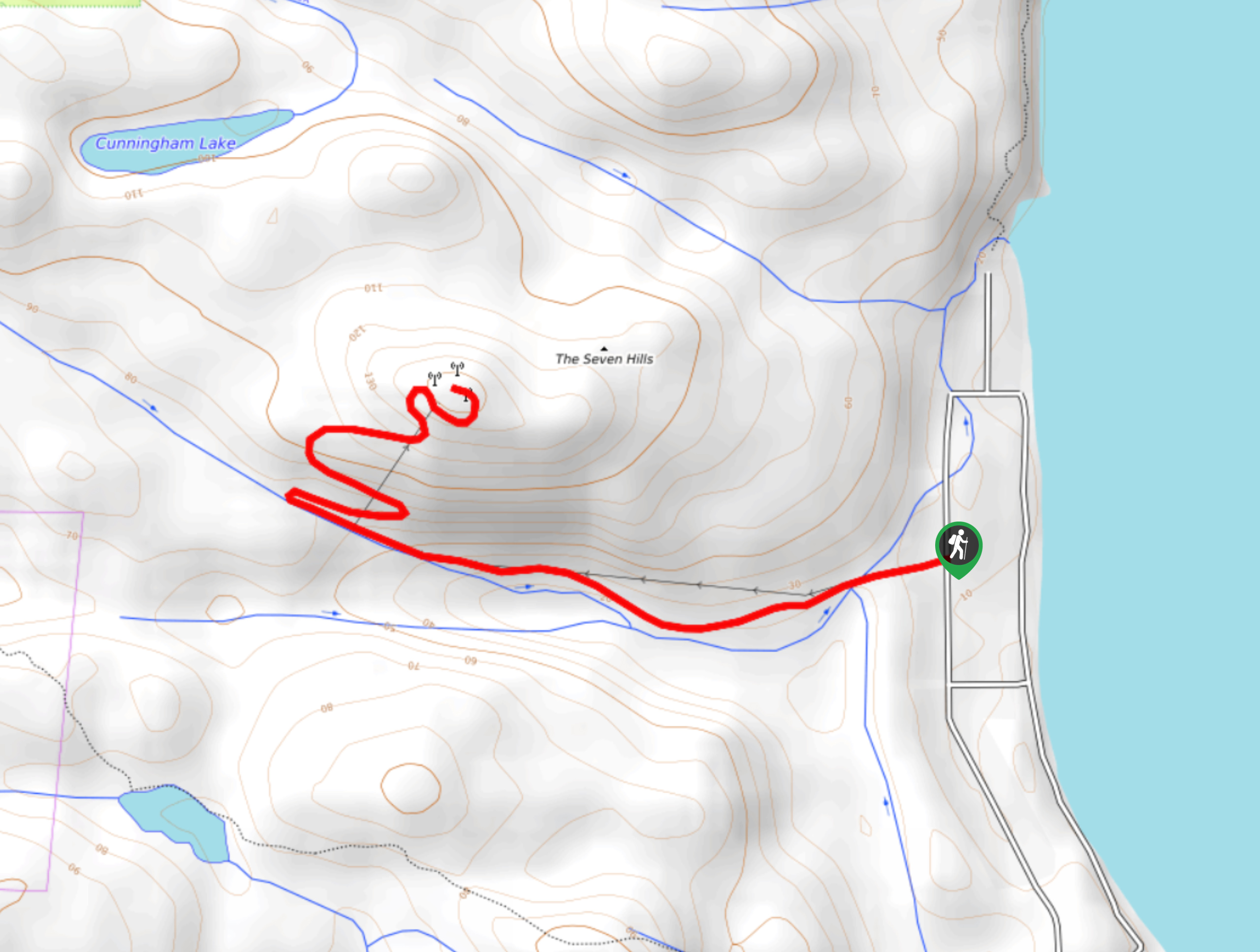 Microwave Tower Trail Map