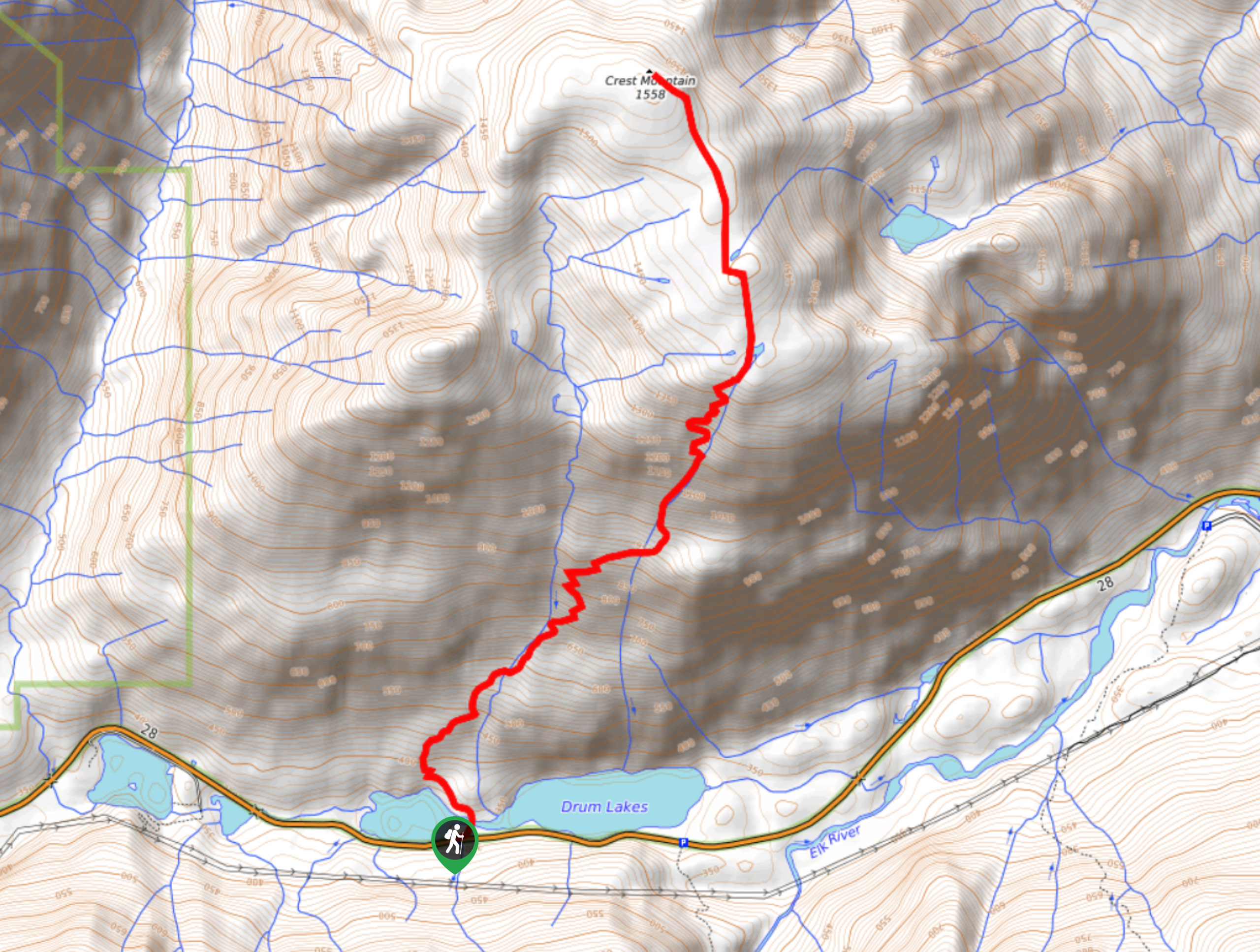 Crest Mountain Trail Map