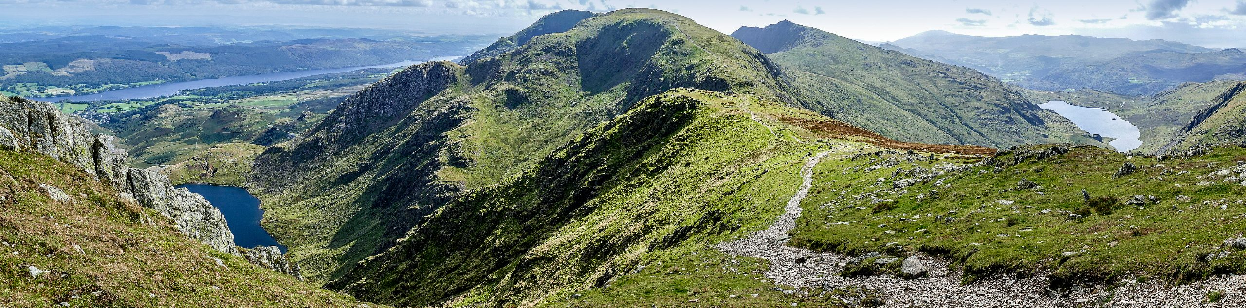 Old Man of Coniston, Swirl How, and Wetherlam Circular Walk Map