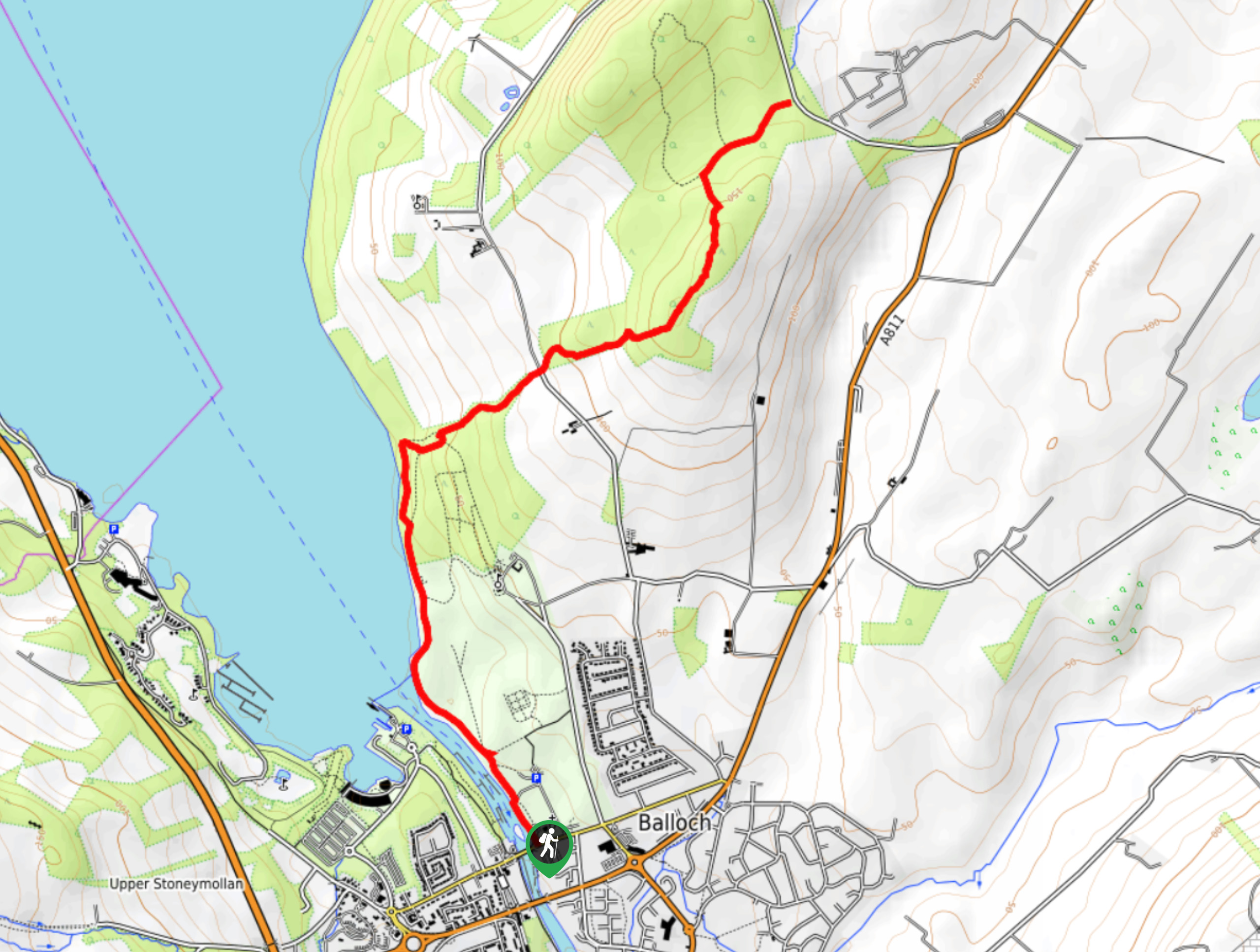 Balloch Country Park and Whinny Hill Walk Map