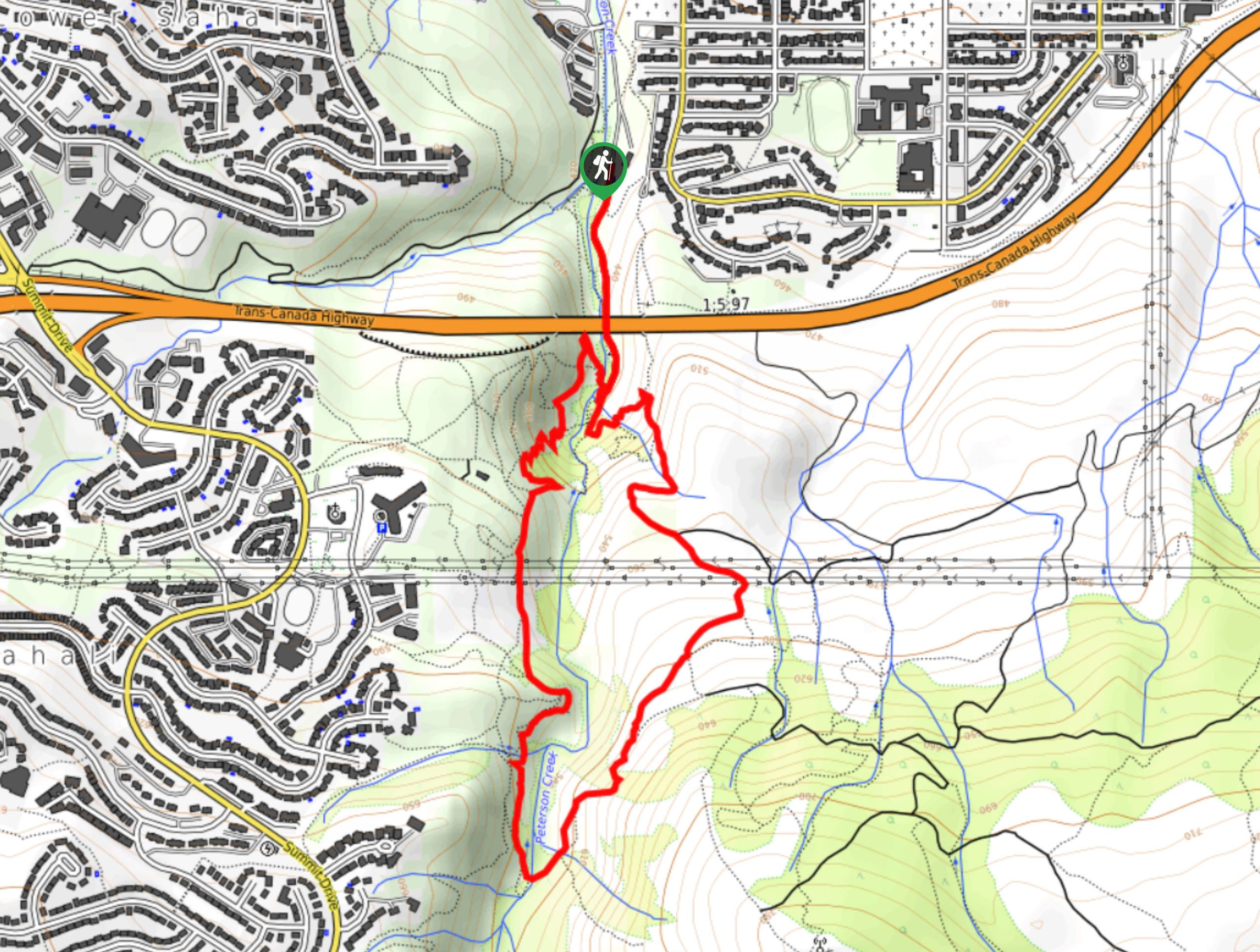 Tom Moore Trail Map