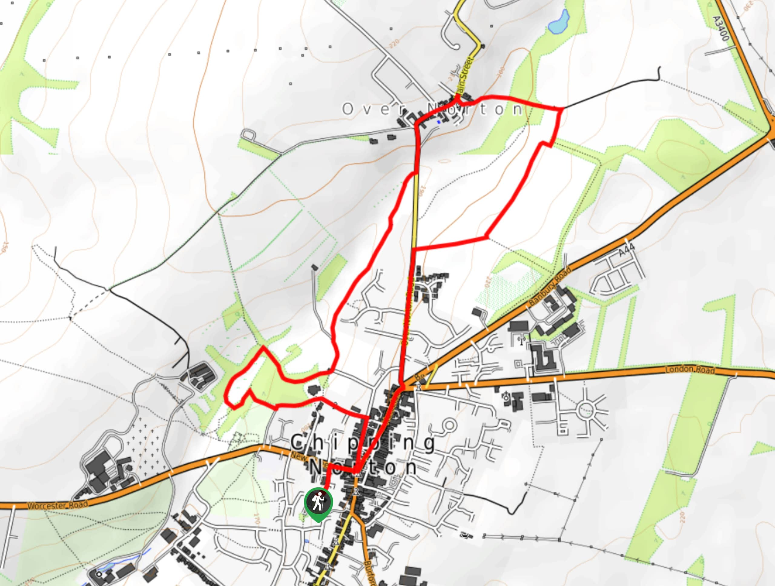 Chipping Norton and Over Norton Walk Map