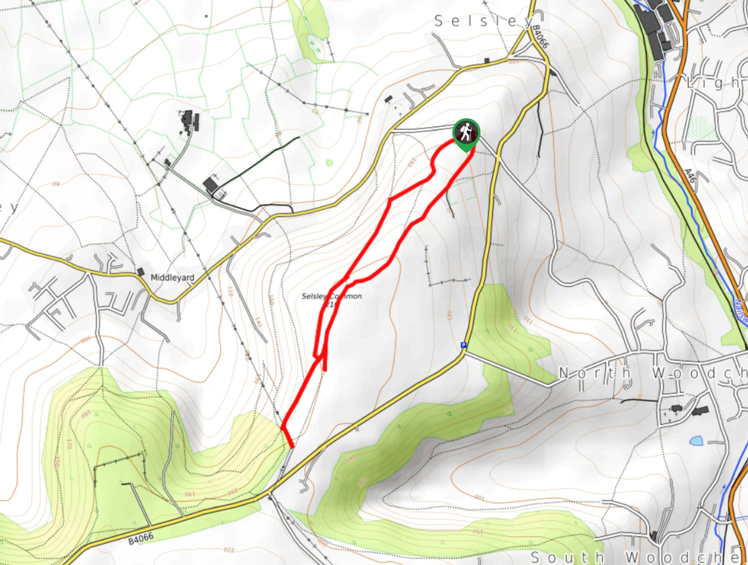 Selsley Common Walk Map