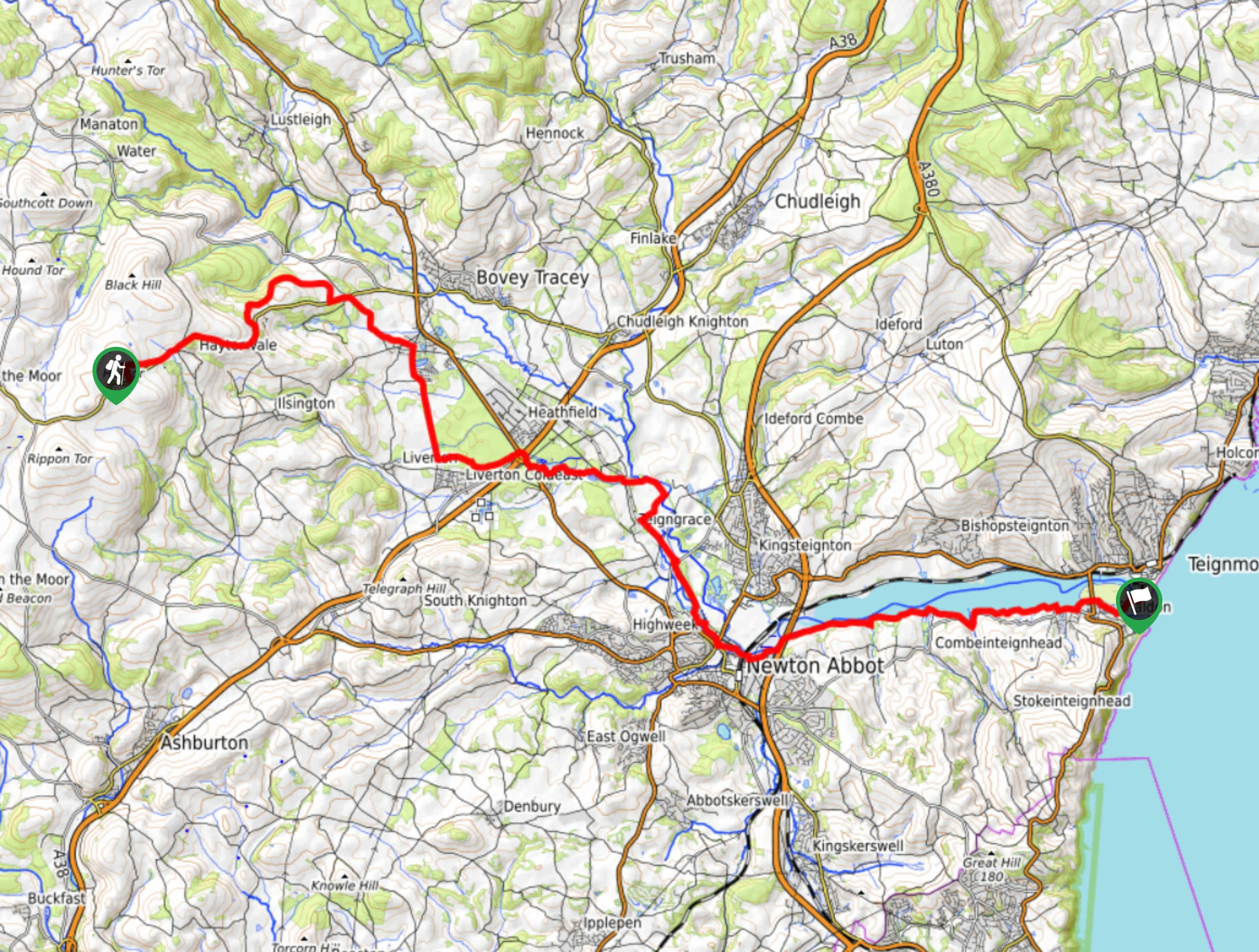 The Templer Way Map