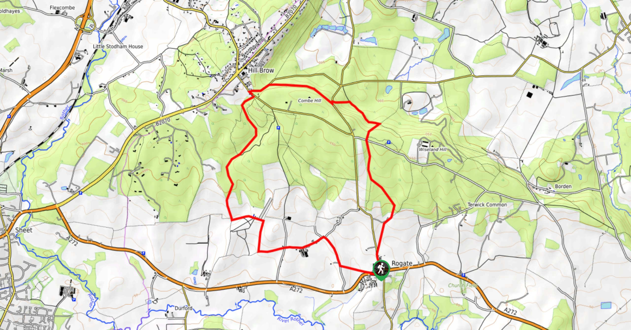 South Downs National Park-Durford Wood Walk-Map image