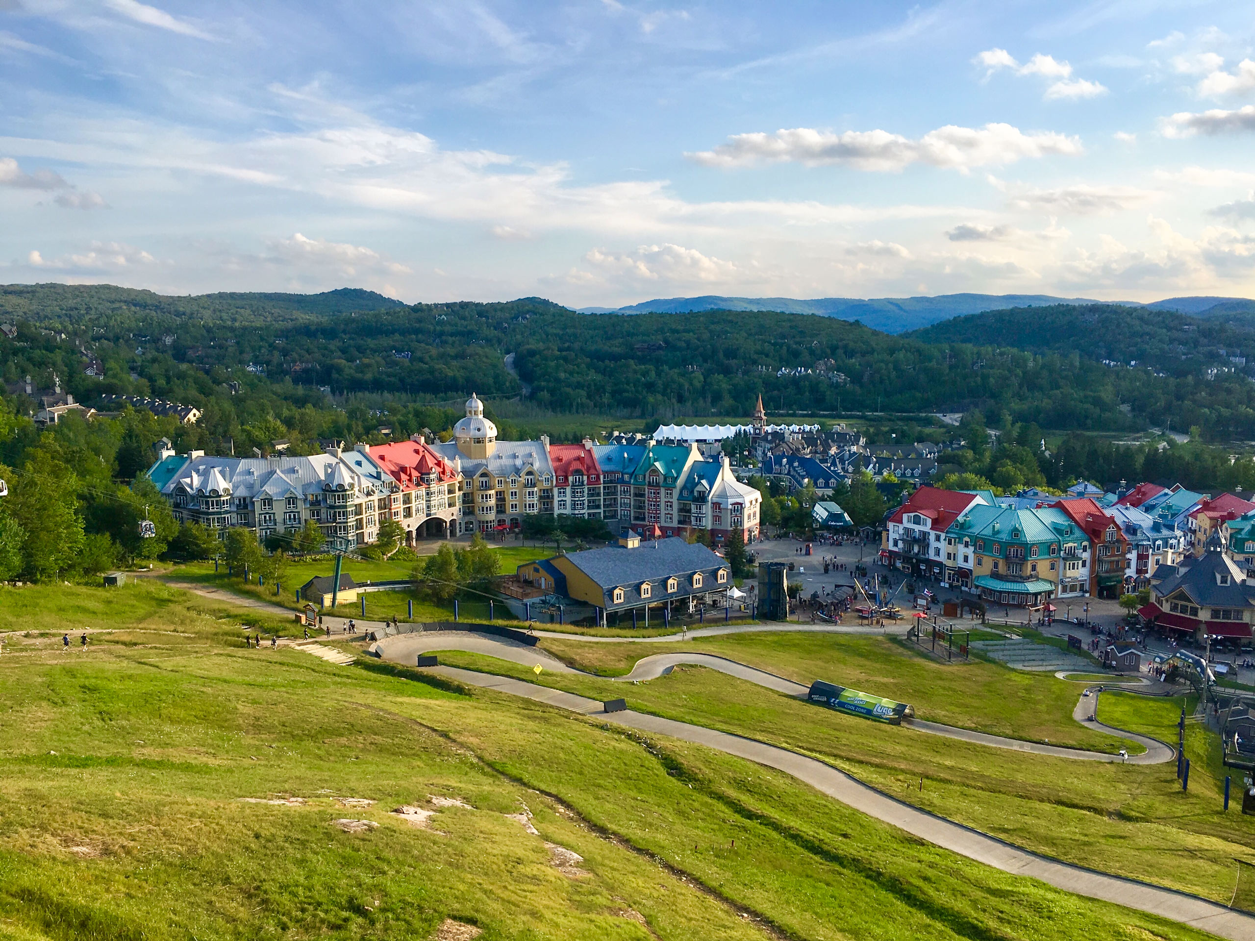 Mont Tremblant village in the summer near Montreal Canada