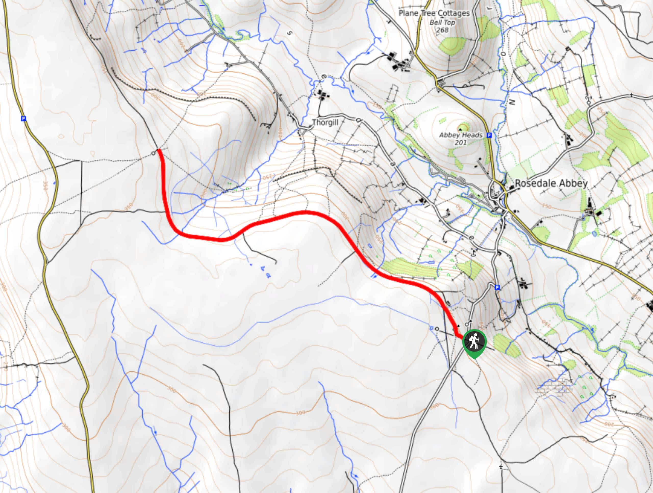 Bank Top and Rosedale Mineral Railway Walk Map